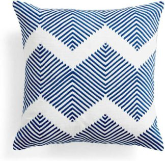 An Image of Ryker Embroidered Cushion 45 x 45 cm, Blue