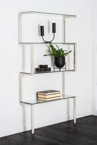 An Image of Miko Single Shelf Unit Chrome