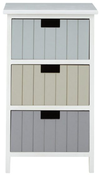 An Image of Premier Housewares New England 3 Drawer Chest - White.