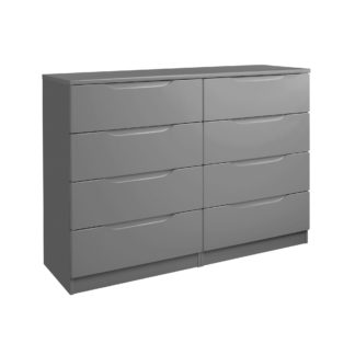 An Image of Legato Grey 8 Drawer Wide Chest Grey