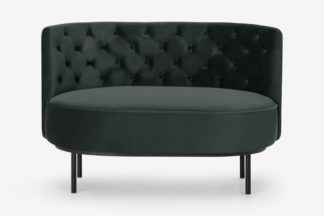 An Image of Ethel Loveseat, Dark Anthracite Velvet