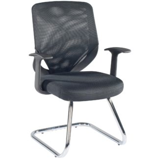 An Image of Atlanta Visitor Office Chair Black