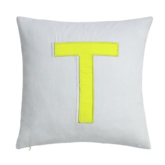 An Image of Argos Home Letter T Cushion