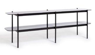 An Image of Habitat Neo 2 Shelf Large TV Unit - Black