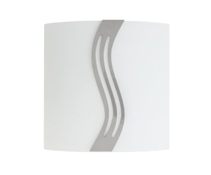 An Image of Argos Home Dusty Frosted Wall Washer Light - Silver
