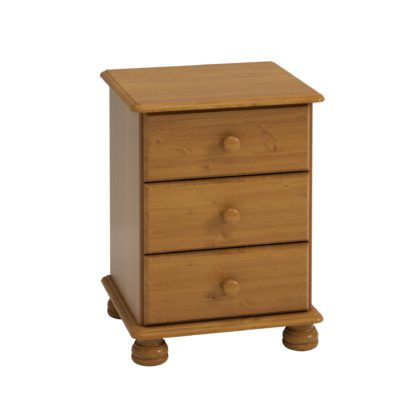 An Image of Colburn Pine 3 Drawer Bedside Natural