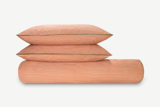 An Image of Souzo Cotton Duvet Cover + 2 Pillowcases, Double, Hazelnut