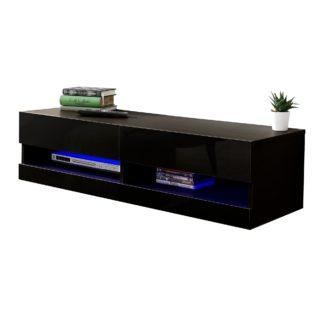 An Image of Galicia 120cm LED Wall TV Unit Black