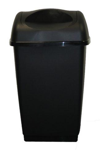 An Image of Tontarelli 25 Litre Swing Top Bin - Black