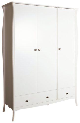 An Image of Amelie 3 Door 2 Drawer Wardrobe - White