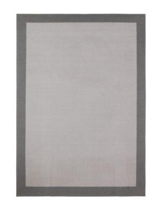 An Image of Habitat Border Rug - 120x170cm - Grey