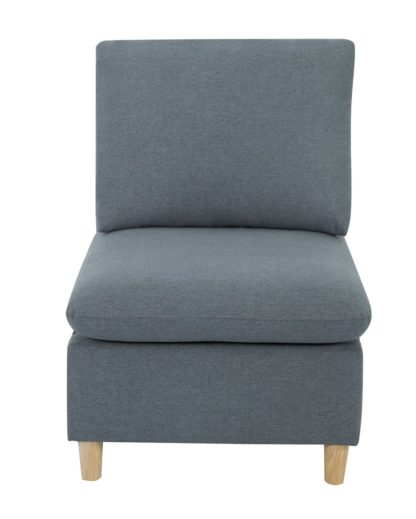 An Image of Habitat Mod Fabric Armchair without Arms - Grey