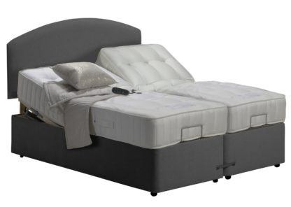 An Image of MiBed Newquay Adjustable Kingsize Bed with Pocket Mattress