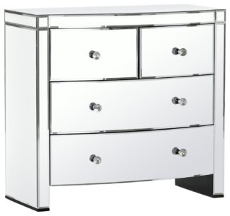An Image of Argos Home Canzano 4 Drawer Mirrored Chest of Drawers