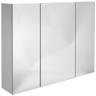 An Image of Argos Home 3 Door Mirrored Cabinet - White