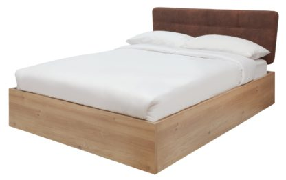 An Image of Habitat Tribeca Ottoman Double Bed Frame - Oak