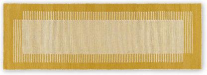 An Image of Caixa Wool Runner, 70 x 200cm, Mustard Yellow