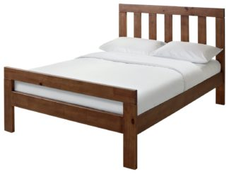 An Image of Habitat Chile Small Double Bed Frame - Dark Stain
