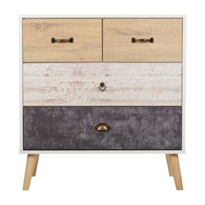 An Image of Nordic 4 Drawer Chest Brown and Grey