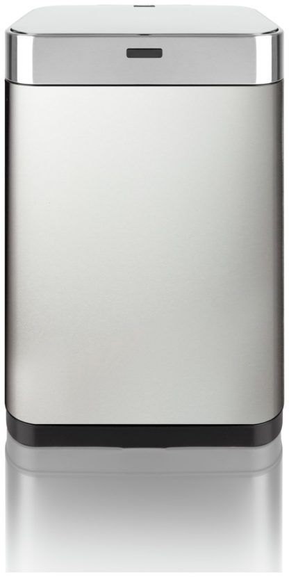 An Image of Tower 60 Litre Recycling Sensor Bin - Stainless Steel