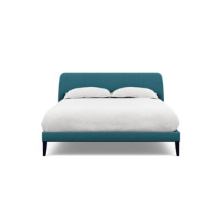 An Image of Heal's Wallis Bedstead King Brushed Cotton Cadet Black