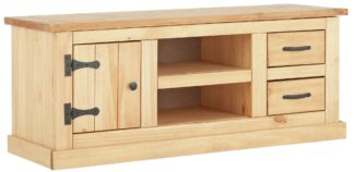 An Image of Argos Home San Diego 2 Drawer Solid Pine TV Unit