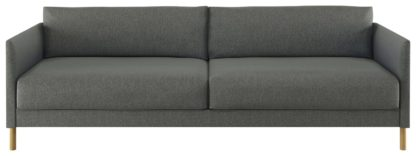 An Image of Habitat Hyde 3 Seater Fabric Sofa Bed - Charcoal