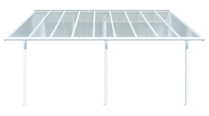An Image of Palram Sierra 3 x 4.25m Patio Cover - Grey Clear