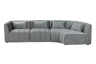 An Image of Essen Right Hand Curved Corner Sofa – Dove Grey