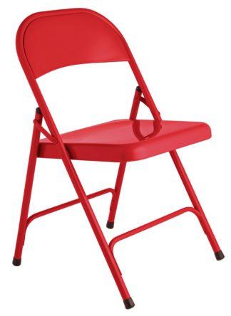 An Image of Habitat Macadam Metal Folding Chair - Red