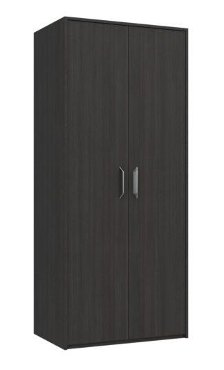 An Image of Ashdown 2 Door Wardrobe - Dark Grey