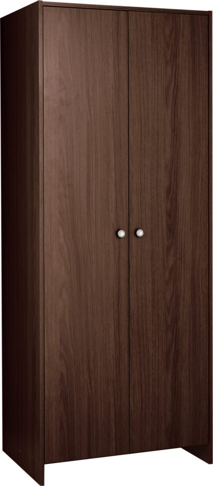 An Image of Argos Home Seville 2 Door Wardrobe - Oak Effect