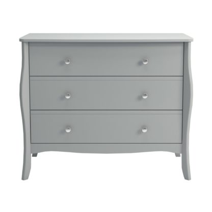 An Image of Baroque Grey 3 Drawer Chest Grey