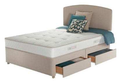 An Image of Sealy Posturepedic Firm Ortho 4 Drawer Divan - Superking
