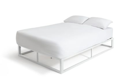 An Image of Habitat Platform Small Double Bed Frame - Black