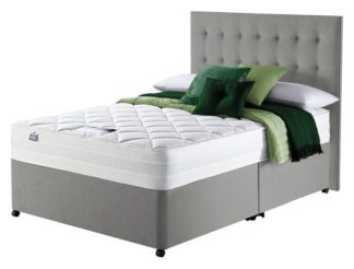 An Image of Silentnight Knightly 2000 Luxury Double Divan Bed - Grey