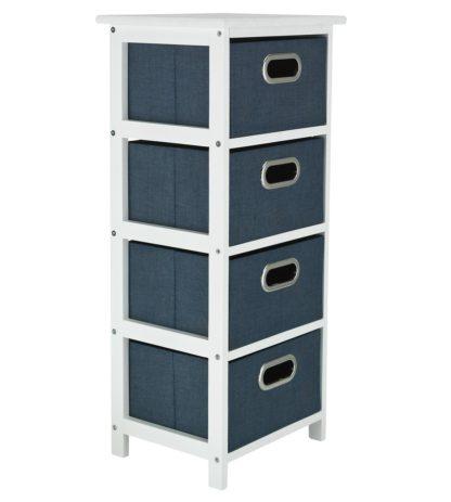 An Image of Argos Home 4 Drawer Bathroom Storage Unit - Grey