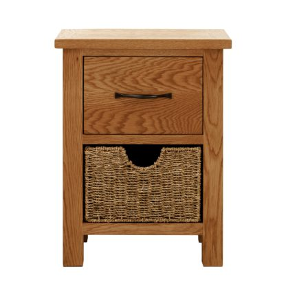 An Image of Sidmouth Oak 2 Drawer Bedside Table Natural