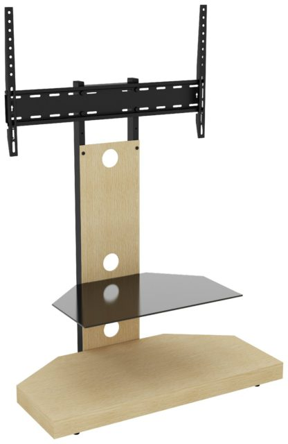 An Image of AVF Wood Effect Mount Up To 60 Inch TV Stand - Oak