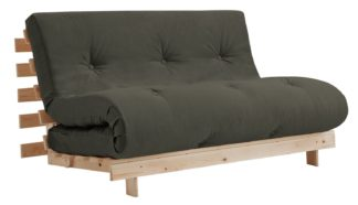 An Image of Argos Home Tosa 2 Seater Futon Sofa Bed - Grey