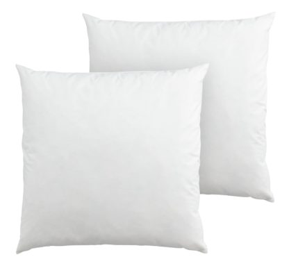 An Image of Argos Home Feather 43x43cm Cushion Pads - 2 Pack