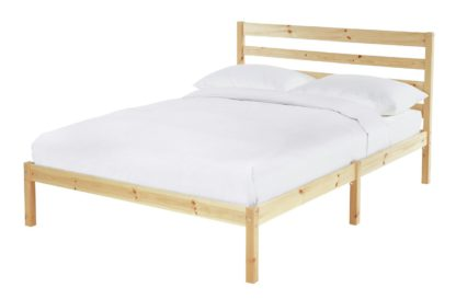 An Image of Habitat Kaycie Double Bed Frame - Pine