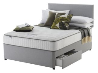 An Image of Silentnight Middleton Double 800 Pkt Memory 2Drw Divan -Grey