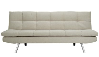 An Image of Habitat Nolan 3 Seater Fabric Sofa Bed - Natural
