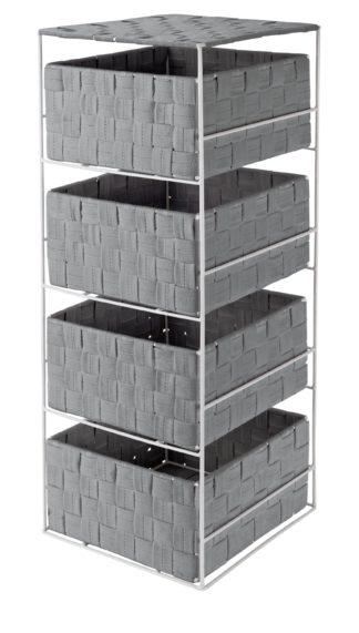 An Image of Argos Home 4 Drawer Storage Unit - Dove Grey
