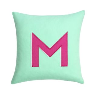 An Image of Argos Home Letter M Cushion
