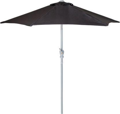 An Image of Argos Home 2.1m Garden Parasol - Black