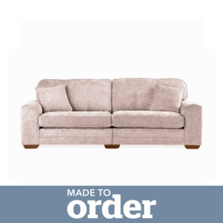 An Image of Morello 4 Seater Sofa Luxury Chenille Pink