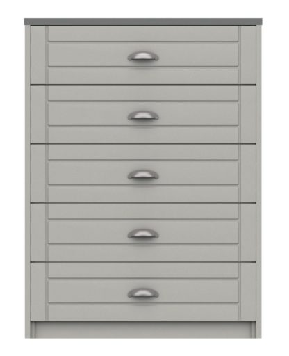 An Image of Kielder 5 Drawer Chest - Grey