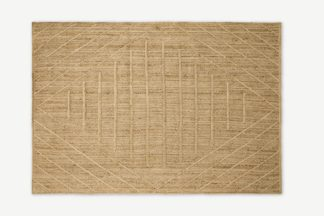 An Image of Aminatta Rug, Large 160 x 230cm, Natural Jute